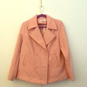 Woman's JustFab pink peacoat